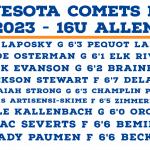 MN Comets Allen 16U – Prospect Profiles